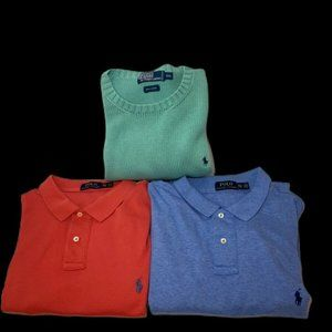 Mens POLO RALPH LAUREN XXL Sweater And Polo lot 3